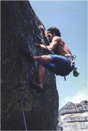 Climbing in Meteora
